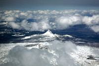 Mount Washington, Oregon, taken from over the Three Sisters peaks, west of Bend, Oregon.